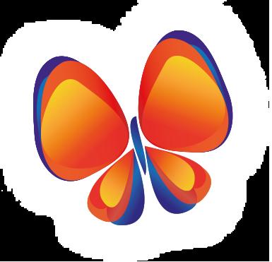 Smartfeedback footer vlinder